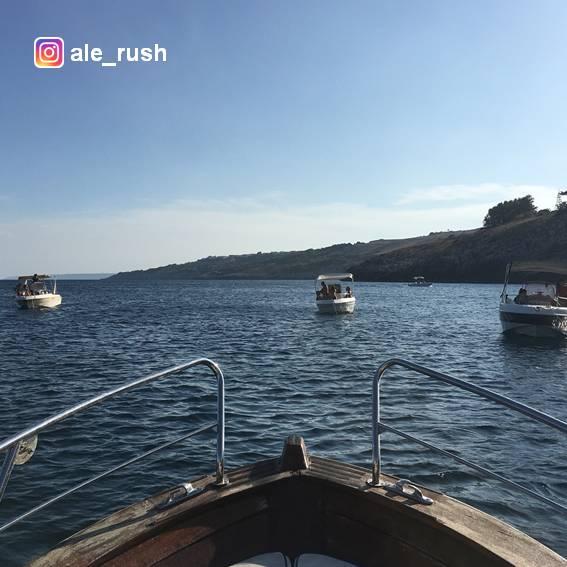 In barca a Santa Cesarea